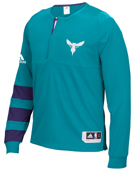 Charlotte Hornets Adidas 2016 NBA Men's On-Court Authentic L/S Shooting Shirt