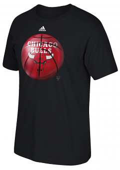 "Chicago Bulls Adidas NBA ""Logo Ball"" Premium Print S/S Men's T-Shirt"