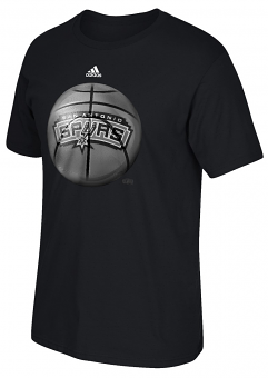 "San Antonio Spurs Adidas NBA ""Logo Ball"" Premium Print S/S Men's T-Shirt"
