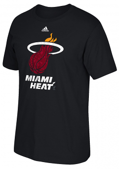 "Miami Heat Adidas NBA ""Cut The Net"" Premium Print S/S Men's T-Shirt"