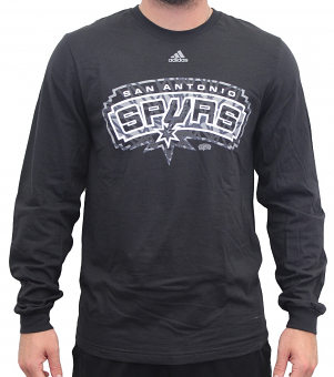 "San Antonio Spurs Adidas NBA ""Cut The Net"" Premium Print L/S Men's T-Shirt"