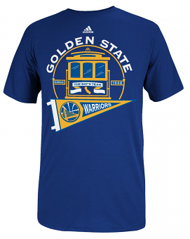 "Golden State Warriors Adidas NBA ""The Bay's Team"" Men's T-Shirt"