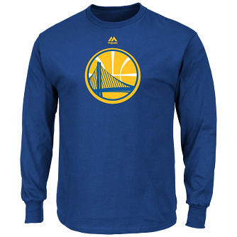 "Golden State Warriors Majestic NBA ""Supreme Logo"" Men's Long Sleeve T-Shirt"