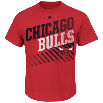 "Chicago Bulls Majestic NBA ""Winning Tactic"" Men's Short Sleeve T-Shirt"