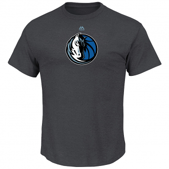 "Dallas Mavericks Majestic NBA ""Supreme Logo"" Men's S/S T-Shirt - Charcoal"