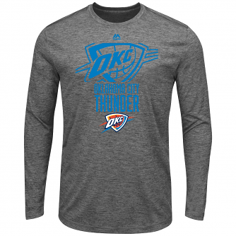 Oklahoma City Thunder Majestic NBA Victory Men's Long Sleeve Performance T-Shirt