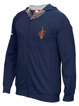 """Cleveland Cavaliers Adidas 2016 NBA On-Court """"Pre-Game"""" Full Zip Hooded Jacket"""