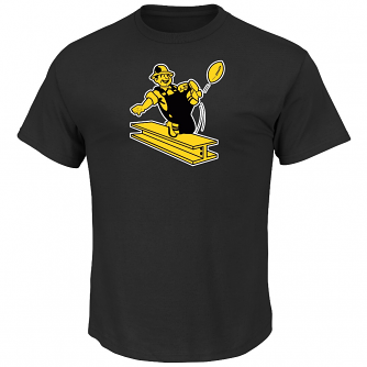 """Pittsburgh Steelers Majestic """"Back in Time"""" Men's Throwback S/S Premium T-Shirt"""