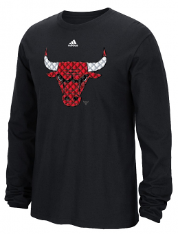 "Chicago Bulls Adidas NBA ""Tech Quilt"" Premium Print L/S Men's T-Shirt"