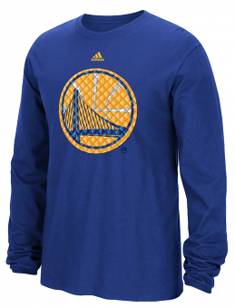 "Golden State Warriors Adidas NBA ""Tech Quilt"" Premium Print L/S Men's T-Shirt"