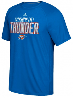 "Oklahoma City Thunder Adidas ""Meshing Around"" Climalite Performance S/S T-Shirt"