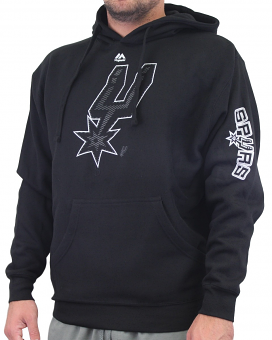 "San Antonio Spurs Majestic NBA ""Choice"" Men's Black Pullover Hooded Sweatshirt"