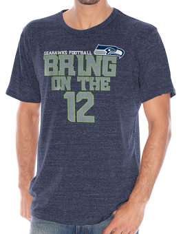 "Seattle Seahawks NFL G-III ""Team Slogan"" Men's Tri-blend Short Sleeve T-shirt"
