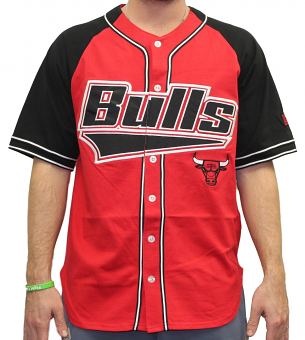 "Chicago Bulls Starter NBA Men's ""Double Play"" Baseball Jersey"