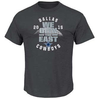 "Dallas Cowboys Majestic NFL 2016 NFC East Champions ""We Own The East"" T-Shirt"