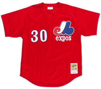 Tim Raines Montreal Expos Mitchell & Ness Authentic 1989 Red BP Jersey