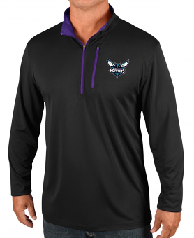 "Charlotte Hornets Majestic NBA Men's ""Exclamation"" 1/2 Zip Pullover Wind Shirt"