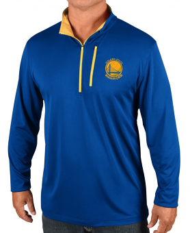 Golden State Warriors Majestic NBA Men's Exclamation 1/2 Zip Pullover Wind Shirt