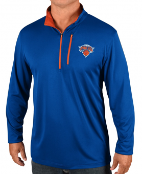 "New York Knicks Majestic NBA Men's ""Exclamation"" 1/2 Zip Pullover Wind Shirt"