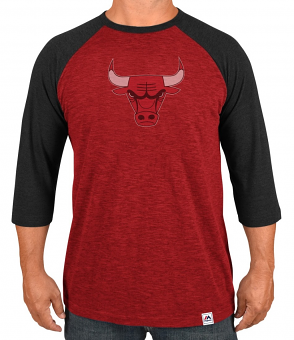 "Chicago Bulls Majestic NBA ""Excellent Attitude"" Men's 3/4 Sleeve T-Shirt"