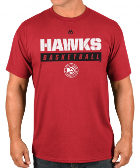 "Atlanta Hawks Majestic NBA ""Proven Pastime 2"" Short Sleeve Men's T-Shirt"
