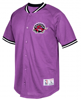 "Toronto Raptors Mitchell & Ness NBA ""Seasoned Pro"" Men's Button Up Jersey Shirt"