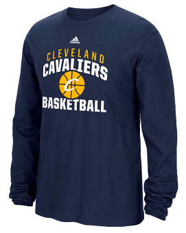 "Cleveland Cavaliers Adidas NBA ""Rep Big"" Men's Long Sleeve T-Shirt"