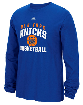 "New York Knicks Adidas NBA ""Rep Big"" Men's Long Sleeve T-Shirt"