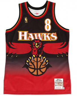 Steve Smith Atlanta Hawks Mitchell & Ness Authentic 1996 Black NBA Jersey