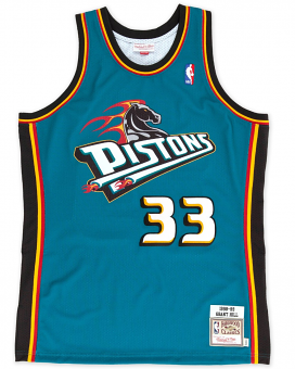 Grant Hill Detroit Pistons Mitchell & Ness Authentic 1998 Blue NBA Jersey