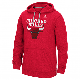 "Chicago Bulls Adidas NBA ""Dotted Fade"" Men's Climawarm Hooded Sweatshirt"