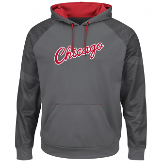 "Chicago Bulls Majestic NBA ""Armor 2"" Men's Pullover Hooded Sweatshirt - Gray"