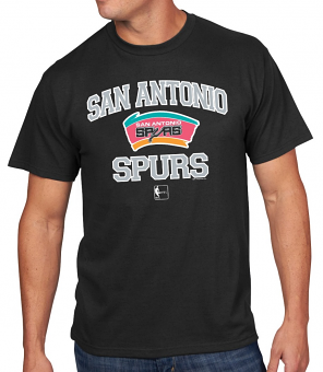 "San Antonio Spurs Majestic NBA ""Heart & Soul"" Men's Black Short Sleeve T-Shirt"