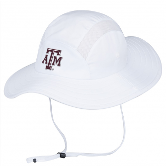 Texas A&M Aggies Adidas Sideline UV Protective Climalite Safari Hat - White