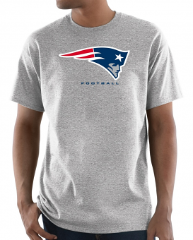 "New England Patriots Majestic NFL ""Critical Victory 3"" Men's S/S T-Shirt - Gray"