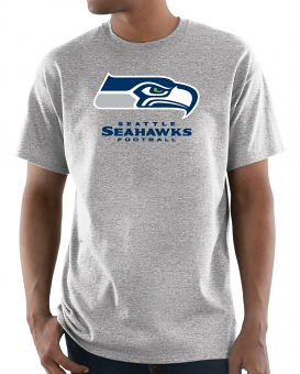 """Seattle Seahawks Majestic NFL """"Critical Victory 3"""" Men's S/S T-Shirt - Gray"""