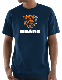 """Chicago Bears Majestic NFL """"Critical Victory 3"""" Men's S/S T-Shirt - Navy"""