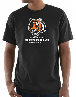 "Cincinnati Bengals Majestic NFL ""Critical Victory 3"" Men's S/S T-Shirt - Black"