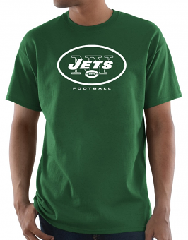 "New York Jets Majestic NFL ""Critical Victory 3"" Men's S/S T-Shirt - Green"