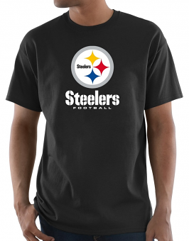 """Pittsburgh Steelers Majestic NFL """"Critical Victory 3"""" Men's S/S T-Shirt - Black"""