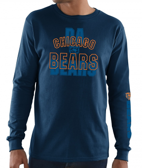 Chicago Bears Majestic NFL Primary Receiver 3 Men's Long Sleeve T-Shirt