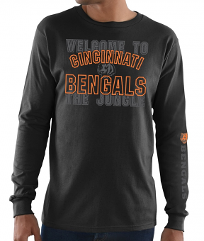 Cincinnati Bengals Majestic NFL Primary Receiver 3 Men's Long Sleeve T-Shirt