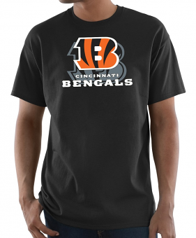 "Cincinnati Bengals Majestic NFL ""Pick Six"" Men's Short Sleeve T-Shirt - Black"