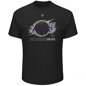 "Los Angeles Lakers Majestic NBA ""Visionary"" Men's Short Sleeve Black T-Shirt"