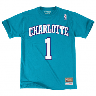 """Muggsy Bogues Charlotte Hornets Mitchell & Ness NBA Men's """"Player"""" S/S T-Shirt"""