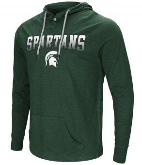 "Michigan State Spartans NCAA ""Big Air"" Men's Long Sleeve Hooded T-Shirt"