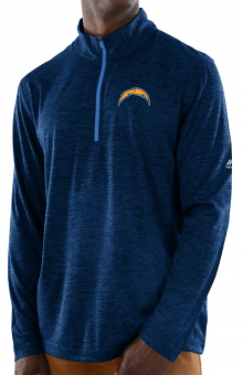 """Los Angeles Chargers Majestic NFL """"Play to Win"""" 1/2 Zip Mock Neck Pullover Shirt"""