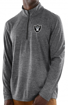 """Oakland Raiders Majestic NFL """"Play to Win"""" 1/2 Zip Mock Neck Pullover Shirt"""