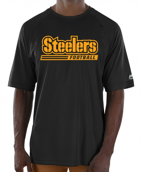 "Pittsburgh Steelers Majestic NFL ""Total Fanfare"" Men's S/S Performance Shirt"