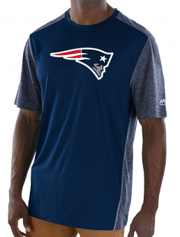 """New England Patriots Majestic NFL """"Unmatched"""" Men's S/S Performance Shirt"""